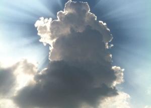 Cumulus congestus-zonnestralen